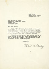 Letter from Robert McCloskey to Mrs. Howie, dated February 25, 1956