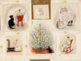 Six paintings - Christmas tree