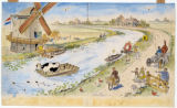 "Painting for ""The Cow Who Fell in The Canal"""