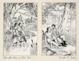 "Two drawings for ""The Silver Horn of Robin Hood"""
