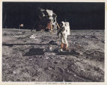 Apollo 11 on the Moon. From the scrapbook of the family of Theodore Freeman.