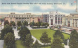 Aerial View, Rodney Square, Showing Post Office and Public Building, Wilmington, Delaware