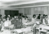 A typing class of the Economics And Business Administration Department