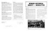 Newark Historical Society Newsletter, May 1982