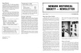 Newark Historical Society Newsletter, November 1982