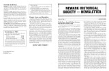 Newark Historical Society Newsletter, August 1983