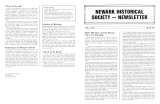 Newark Historical Society Newsletter, June 1984