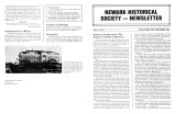 Newark Historical Society Newsletter, November 1985