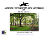 Delaware Thoroughbred Racing Commission, 2009, The Year in Review