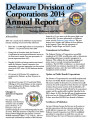 2014 Delaware Division of Corporations Annual Report