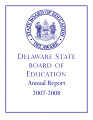 2007/2008 Delaware State Board of Education Annual Report