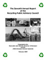 The Seventh Annual Report of the Recycling Public Advisory Committee