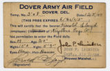 Temp Pass No. 508, Dover Army Airfield