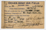 Temp pass No. 50, Dover Army Airfield